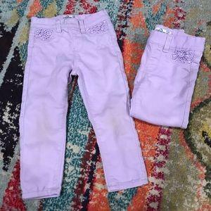 TWINS!! Pull on leggings!